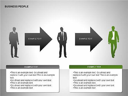 Business People Diagrams, Slide 8, 00221, Business Models — PoweredTemplate.com