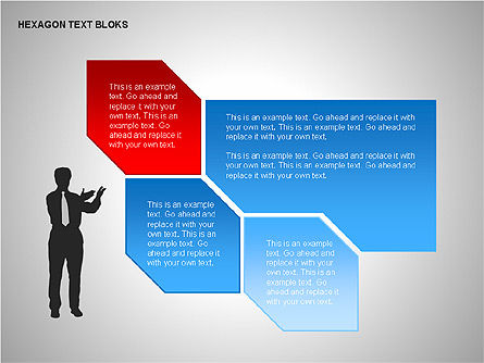 Hexagon Text Blocks Shapes, Slide 10, 00223, Shapes — PoweredTemplate.com