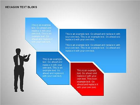 Hexagon Text Blocks Shapes, Slide 11, 00223, Shapes — PoweredTemplate.com