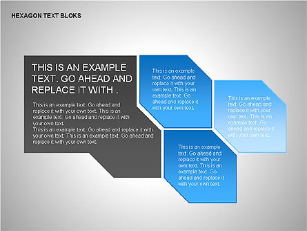 Hexagon Text Blocks Shapes, Slide 12, 00223, Shapes — PoweredTemplate.com