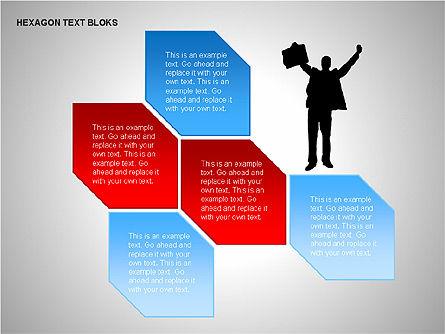 Hexagon Text Blocks Shapes, Slide 13, 00223, Shapes — PoweredTemplate.com