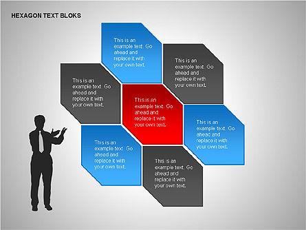 Hexagon Text Blocks Shapes, Slide 14, 00223, Shapes — PoweredTemplate.com