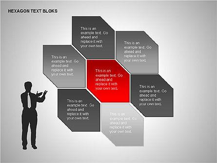 Hexagon Text Blocks Shapes, Slide 15, 00223, Shapes — PoweredTemplate.com
