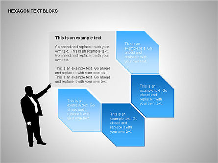 Hexagon Text Blocks Shapes, Slide 2, 00223, Shapes — PoweredTemplate.com
