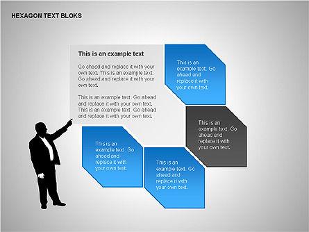 Hexagon Text Blocks Shapes, Slide 5, 00223, Shapes — PoweredTemplate.com