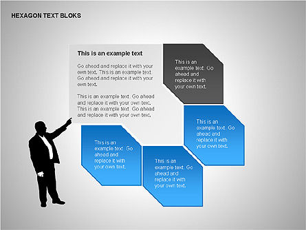 Hexagon Text Blocks Shapes, Slide 6, 00223, Shapes — PoweredTemplate.com