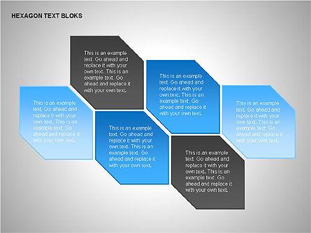 Hexagon Text Blocks Shapes, Slide 7, 00223, Shapes — PoweredTemplate.com