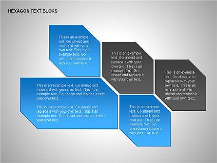 Hexagon Text Blocks Shapes, Slide 8, 00223, Shapes — PoweredTemplate.com