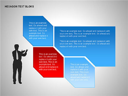 Hexagon Text Blocks Shapes, Slide 9, 00223, Shapes — PoweredTemplate.com