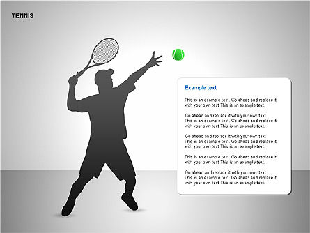 Free Tennis Silhouettes , 00225, Silhouettes — PoweredTemplate.com