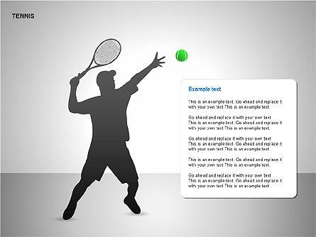 Silhouettes: Siluetas de Tenis Gratis #00225