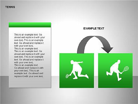 Free Tennis Silhouettes , Slide 10, 00225, Silhouettes — PoweredTemplate.com