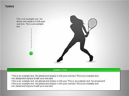 Free Tennis Silhouettes , Slide 11, 00225, Silhouettes — PoweredTemplate.com