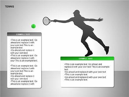 Free Tennis Silhouettes , Slide 13, 00225, Silhouettes — PoweredTemplate.com