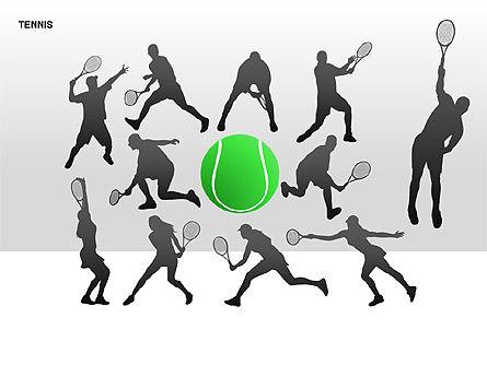 Free Tennis Silhouettes , Slide 14, 00225, Silhouettes — PoweredTemplate.com