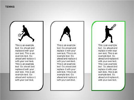Free Tennis Silhouettes , Slide 2, 00225, Silhouettes — PoweredTemplate.com