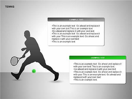 Free Tennis Silhouettes , Slide 3, 00225, Silhouettes — PoweredTemplate.com