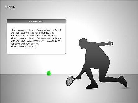 Free Tennis Silhouettes , Slide 7, 00225, Silhouettes — PoweredTemplate.com
