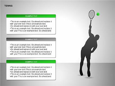 Free Tennis Silhouettes , Slide 8, 00225, Silhouettes — PoweredTemplate.com