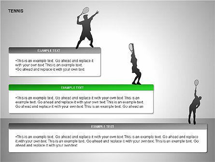 Free Tennis Silhouettes , Slide 9, 00225, Silhouettes — PoweredTemplate.com