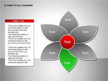 Flower Petals Diagrams, Slide 7, 00226, Stage Diagrams — PoweredTemplate.com