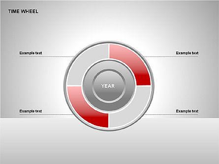 Time Wheel Diagrams, Slide 10, 00227, Timelines & Calendars — PoweredTemplate.com