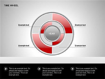 Time Wheel Diagrams, Slide 11, 00227, Timelines & Calendars — PoweredTemplate.com