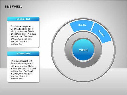 Time Wheel Diagrams, Slide 12, 00227, Timelines & Calendars — PoweredTemplate.com