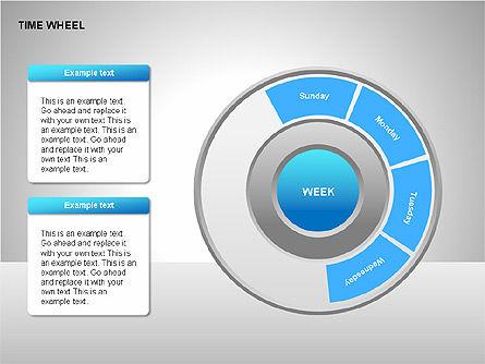 Time Wheel Diagrams, Slide 13, 00227, Timelines & Calendars — PoweredTemplate.com