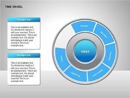 Time Wheel Diagrams, Slide 14, 00227, Timelines & Calendars — PoweredTemplate.com