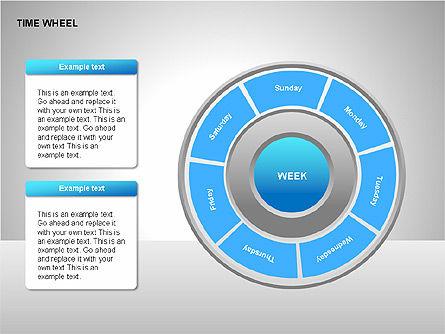 Time Wheel Diagrams, Slide 15, 00227, Timelines & Calendars — PoweredTemplate.com