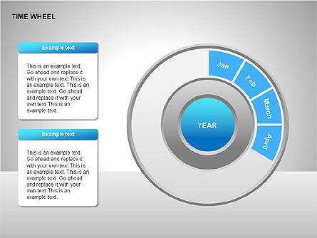Time Wheel Diagrams, Slide 2, 00227, Timelines & Calendars — PoweredTemplate.com