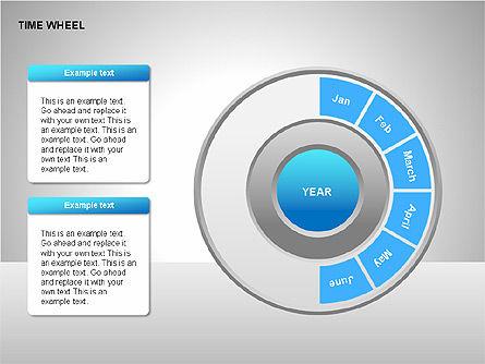 Time Wheel Diagrams, Slide 3, 00227, Timelines & Calendars — PoweredTemplate.com
