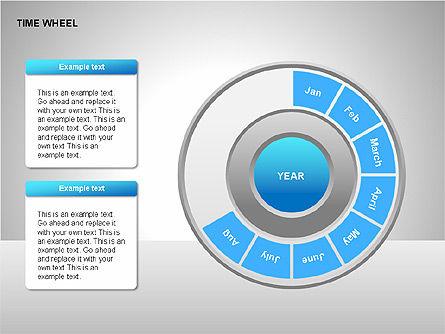 Time Wheel Diagrams, Slide 4, 00227, Timelines & Calendars — PoweredTemplate.com