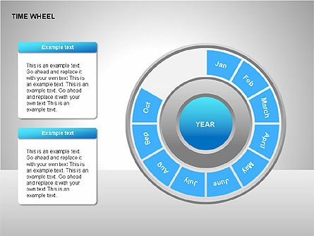 Time Wheel Diagrams, Slide 5, 00227, Timelines & Calendars — PoweredTemplate.com