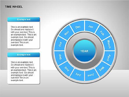 Time Wheel Diagrams, Slide 6, 00227, Timelines & Calendars — PoweredTemplate.com