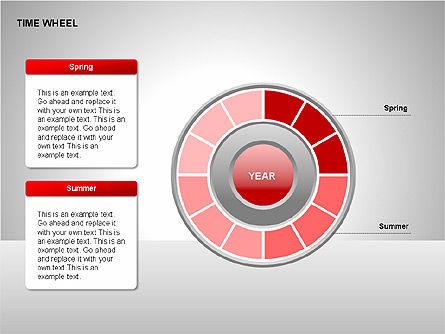 Time Wheel Diagrams, Slide 7, 00227, Timelines & Calendars — PoweredTemplate.com