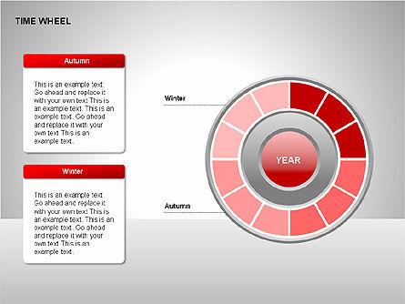 Time Wheel Diagrams, Slide 8, 00227, Timelines & Calendars — PoweredTemplate.com
