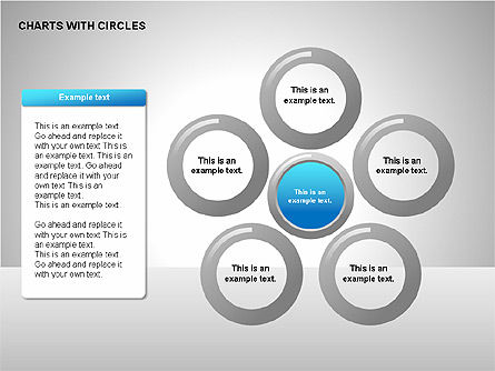 Flow Charts with Circles, Slide 3, 00229, Flow Charts — PoweredTemplate.com