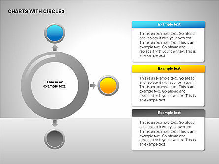 Flow Charts with Circles, Slide 4, 00229, Flow Charts — PoweredTemplate.com