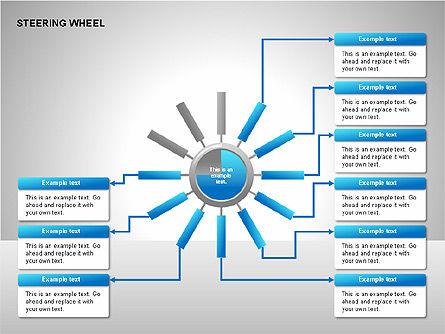 Steering Wheel Charts, Slide 10, 00230, Stage Diagrams — PoweredTemplate.com