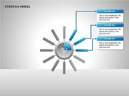 Steering Wheel Charts, Slide 4, 00230, Stage Diagrams — PoweredTemplate.com