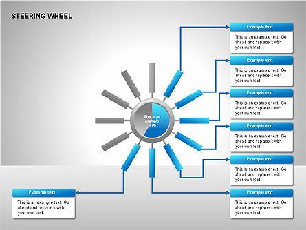 Steering Wheel Charts, Slide 8, 00230, Stage Diagrams — PoweredTemplate.com