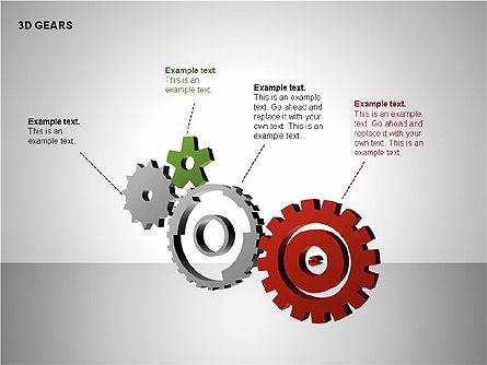 3D Gears Shapes, Slide 10, 00231, Shapes — PoweredTemplate.com