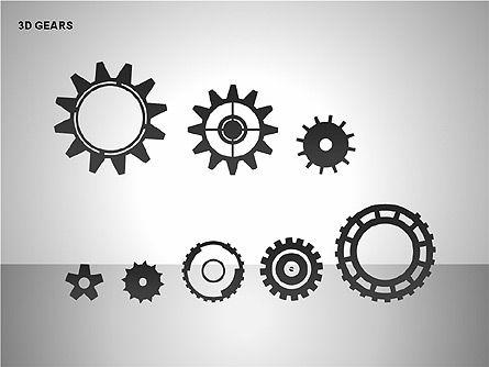 3D Gears Shapes, Slide 11, 00231, Shapes — PoweredTemplate.com