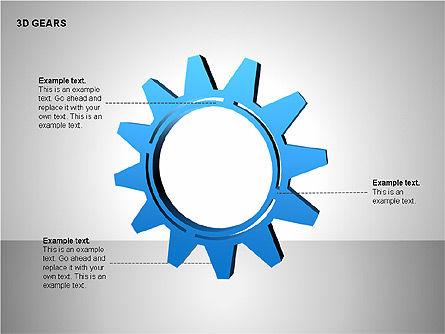 3D Gears Shapes, Slide 12, 00231, Shapes — PoweredTemplate.com