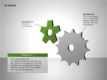 3D Gears Shapes, Slide 13, 00231, Shapes — PoweredTemplate.com