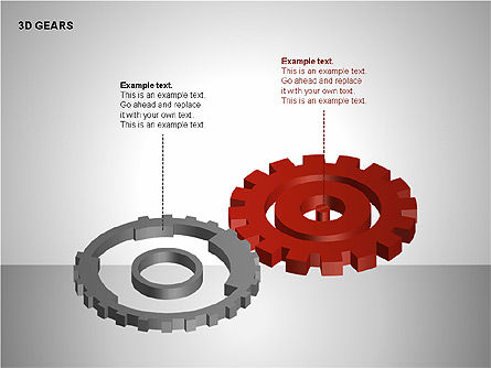 3D Gears Shapes, Slide 14, 00231, Shapes — PoweredTemplate.com