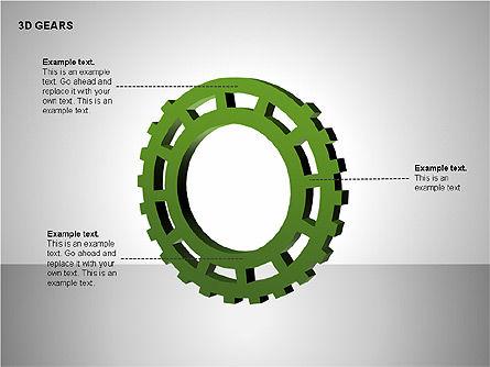 3D Gears Shapes, Slide 15, 00231, Shapes — PoweredTemplate.com