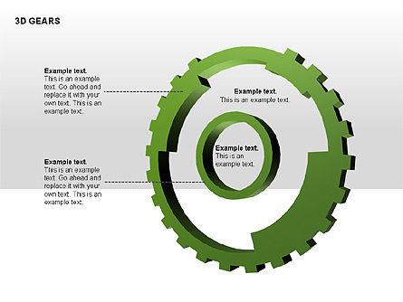 3D Gears Shapes, Slide 3, 00231, Shapes — PoweredTemplate.com